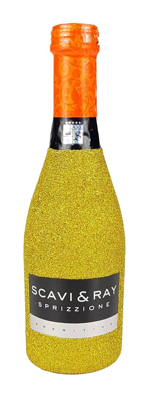 Scavi & Ray Sprizzione Aperitivo 20cl (8% Vol) - Bling Bling Glitzerflasche in gold -[Enthält Sulfite]