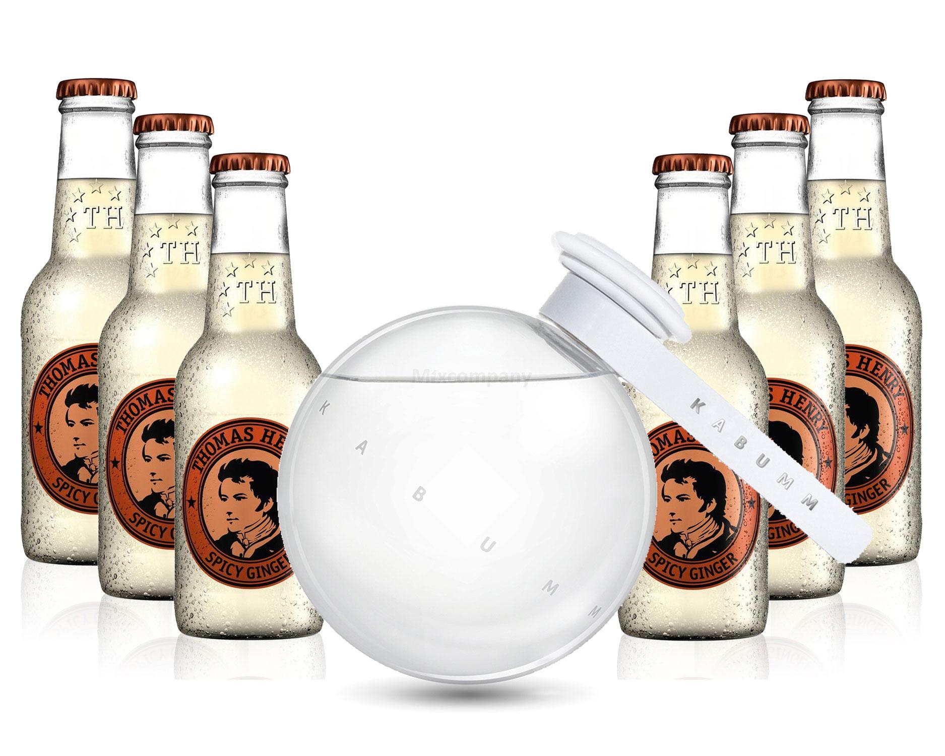 Moscow Mule Set - Kabumm Vodka 0,7l 700ml (40% Vol) + 6x Thomas Henry Spicy Ginger 200ml - Inkl. Pfand MEHRWEG