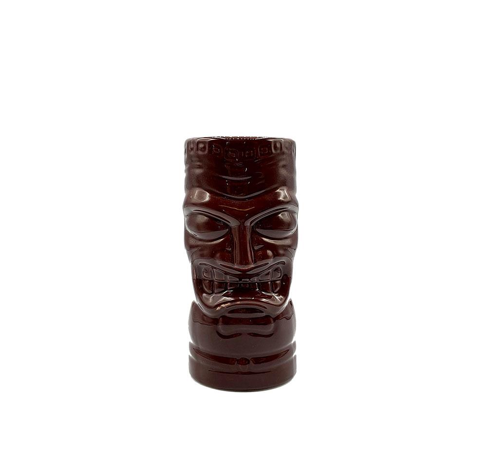 Mahiki Tiki Keramik GLAS Becher XL , XL Tiki Mug, 1 dunkel brauner Cocktailbecher in Tiki Version