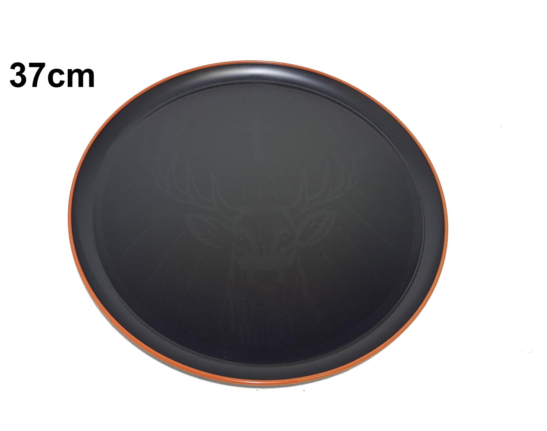 Jägermeister Tablett Serviertablett mit Elch Logo gummiert