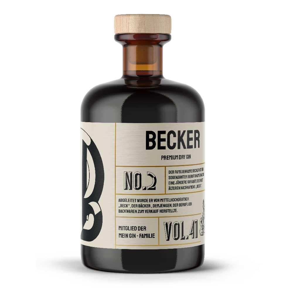 Mein Gin - Beckers Premium Dry Gin No2 - Der Becker Gin 0,5L (41% Vol)