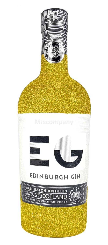 Edinburgh Gin 0,7l 700ml (43% Vol) Bling Bling Glitzerflasche in gold -[Enthält Sulfite]