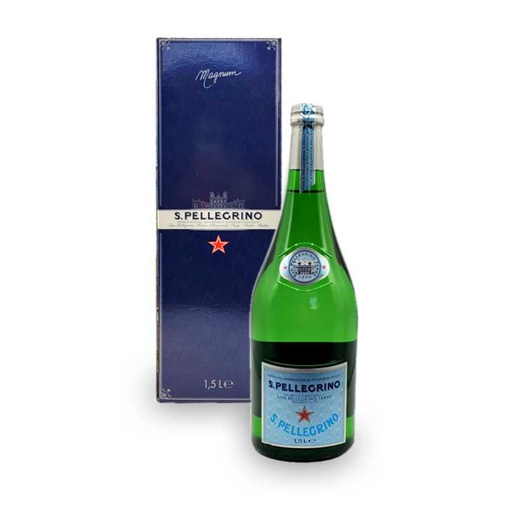 San Pellegrino Magnum Flasche Mineralwasser 1,5L mit Kohlensäure inkl. Pfand MEHRWEG