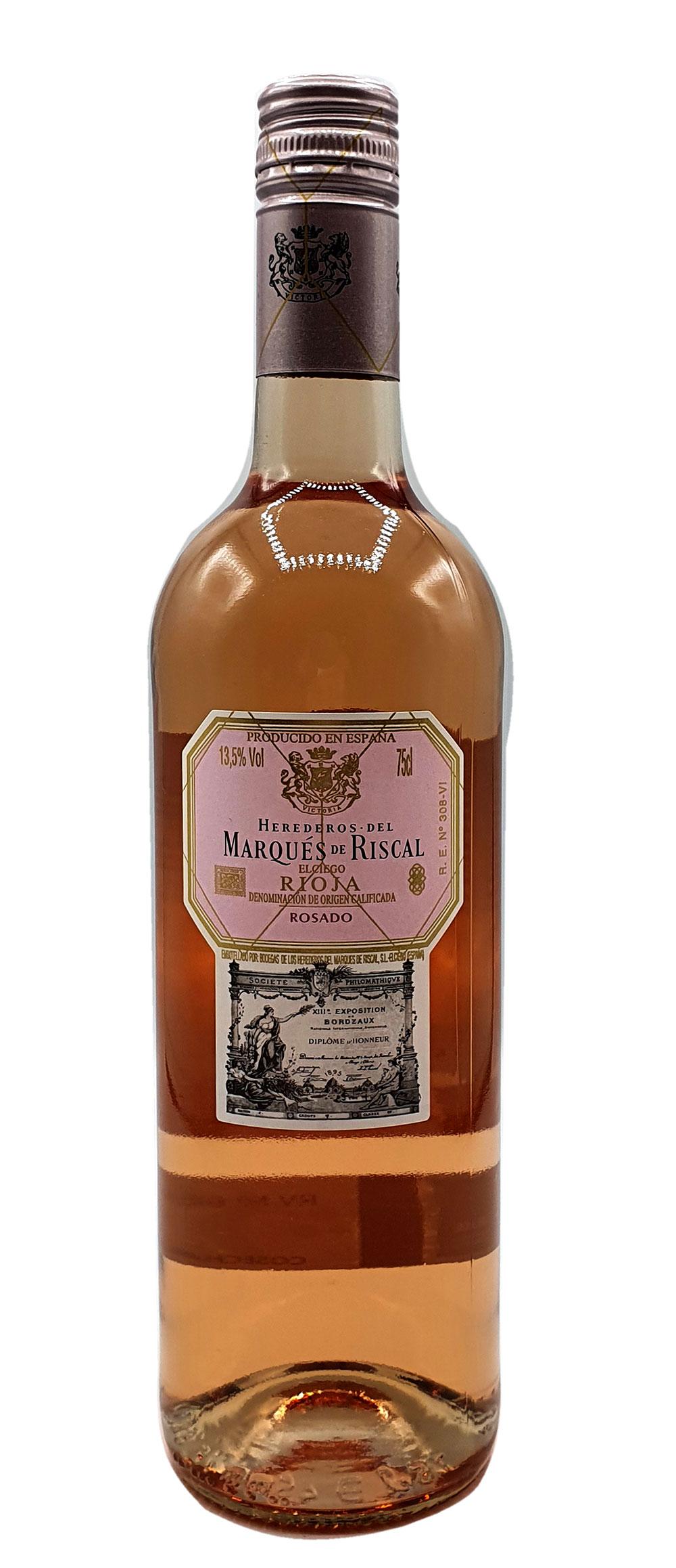 Rose Wein - Marques de Riscal Rioja Rosado 750ml (13,5% Vol)- [Enthält Sulfite]