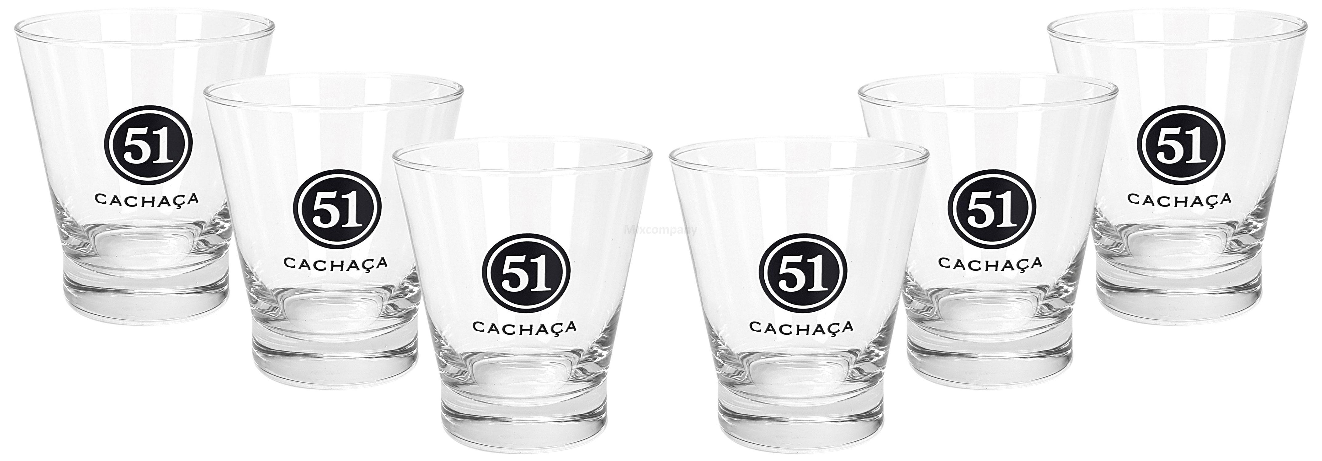 Cachaca 51 Tumbler Glas Gläser Set - 6x Tumbler