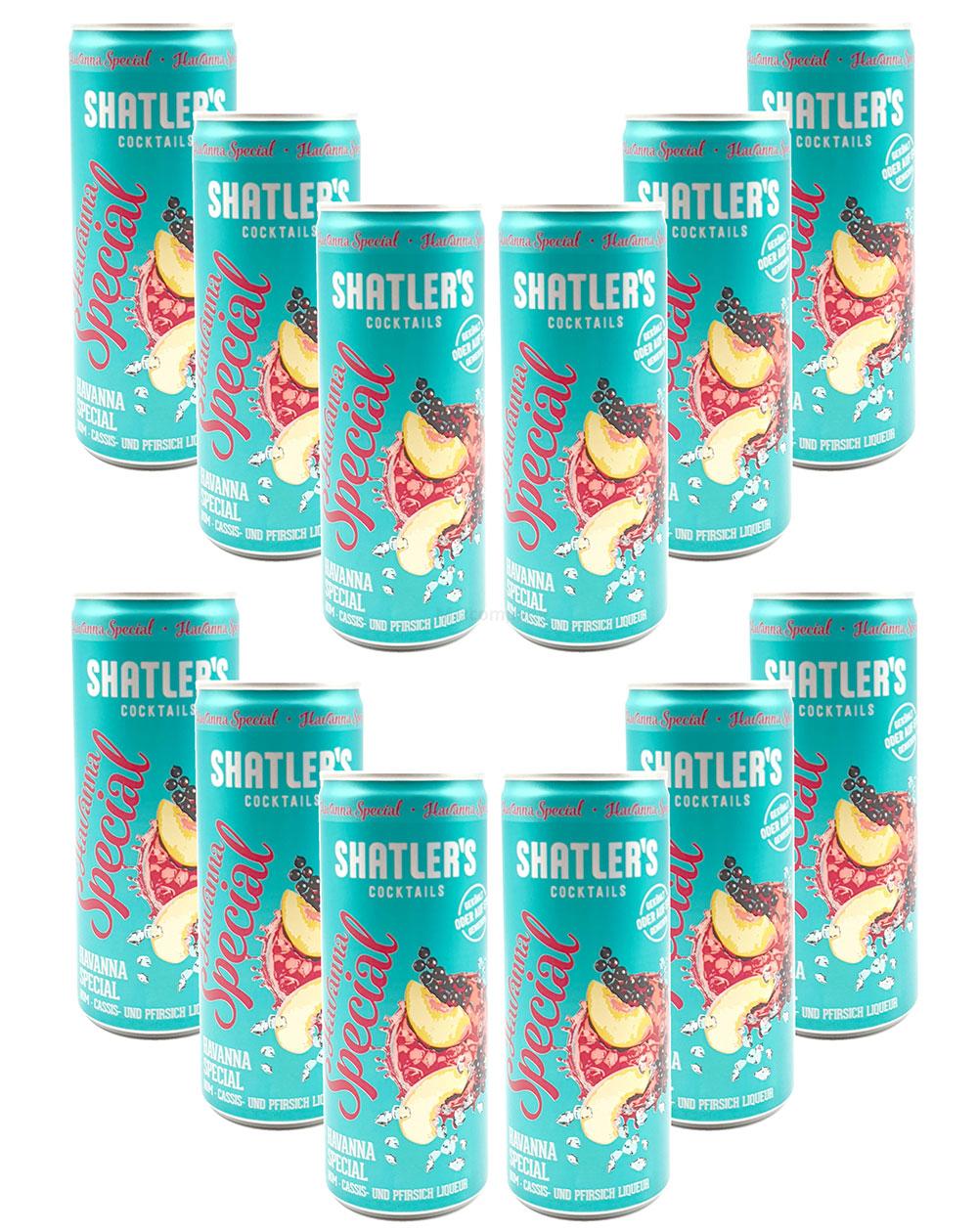 Shatlers Cocktail - 12er Set Shatlers Havanna Special 0,25L (10,1% Vol) inklusive Pfand EINWEG - Shatlers Cocktail - Ready to Go- [Enthält Sulfite]