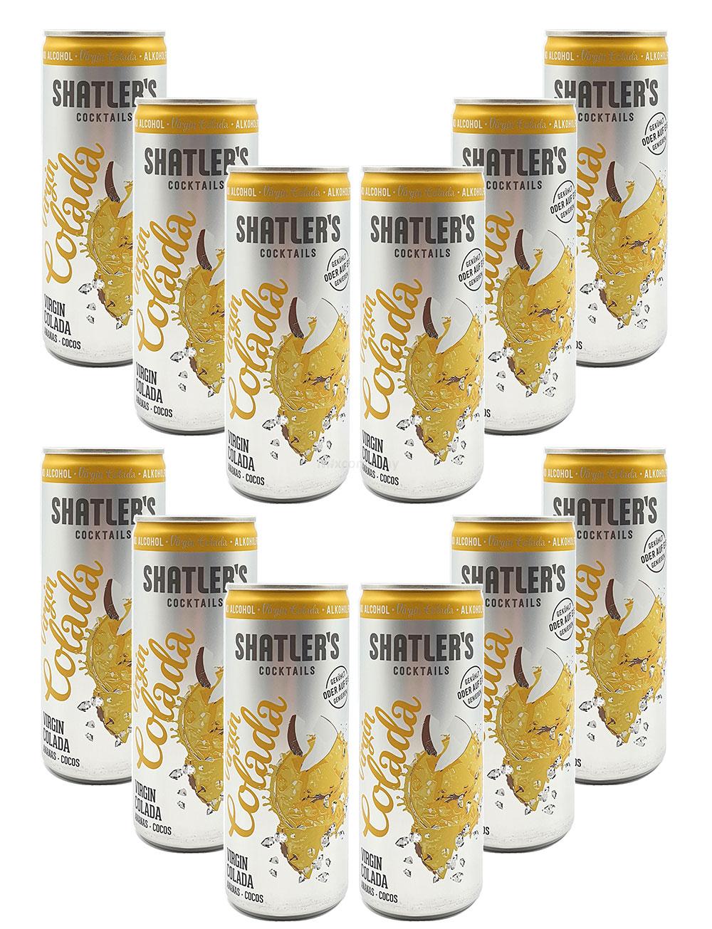 Shatlers Cocktail - 12er Set Shatlers Virgin Colada 0,25L Alkoholfrei - inklusive Pfand EINWEG - Shatlers Cocktail - Ready to Go