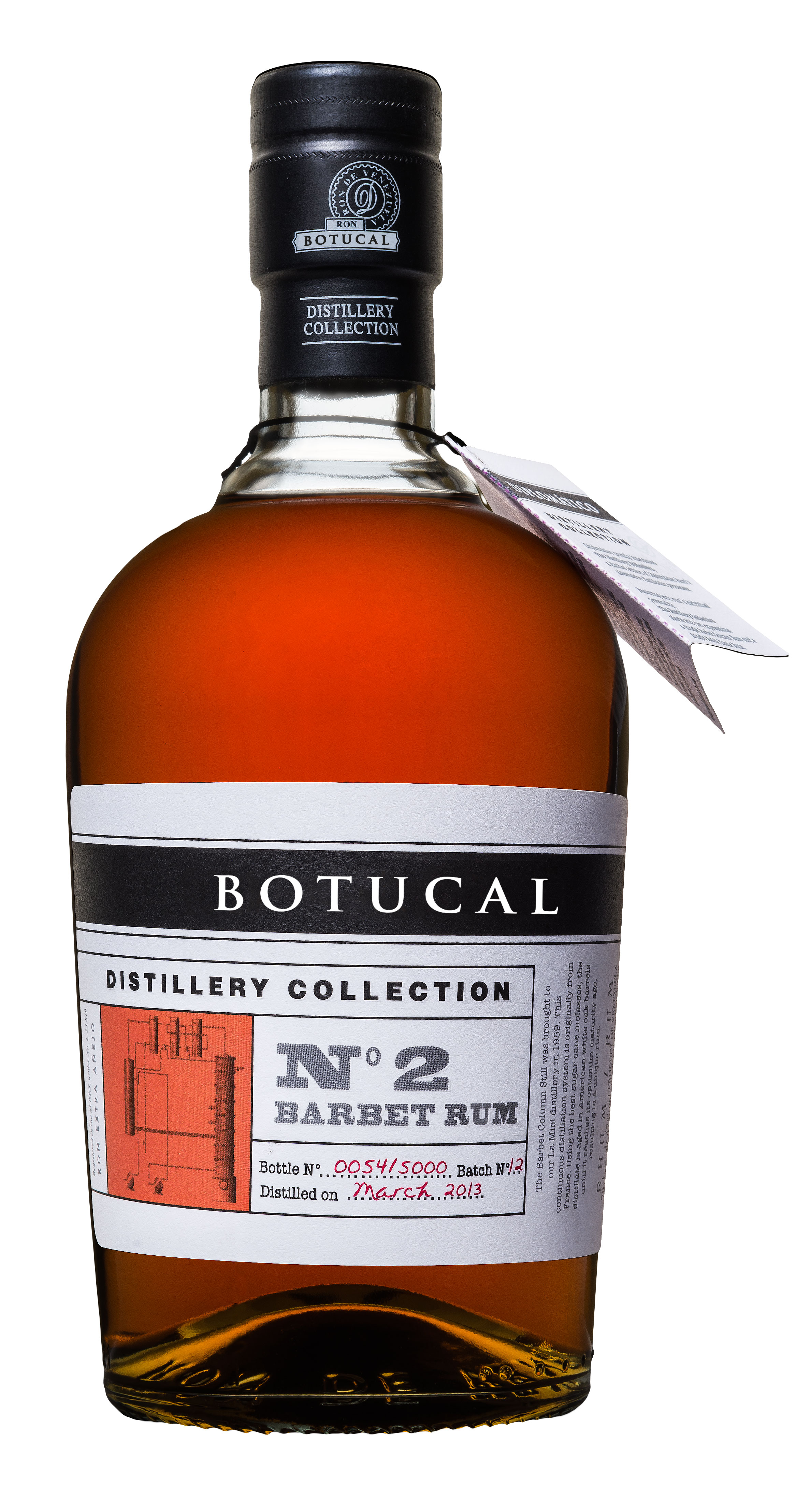 Botucal No2 Barbet Rum Rhum 0,70l (47% Vol) exklusive Sonderausgabe special limited edition distillery collection Ron de Venezuela - [Enthält Sulfite]