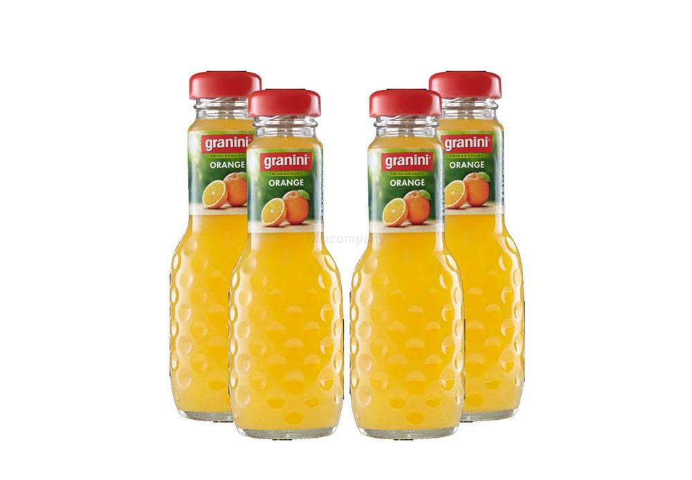 Granini Orange / Saft - 4er Set Granini Trinkgenuss - 4x Orange 0,2L Saft inkl. Pfand MEHRWEG