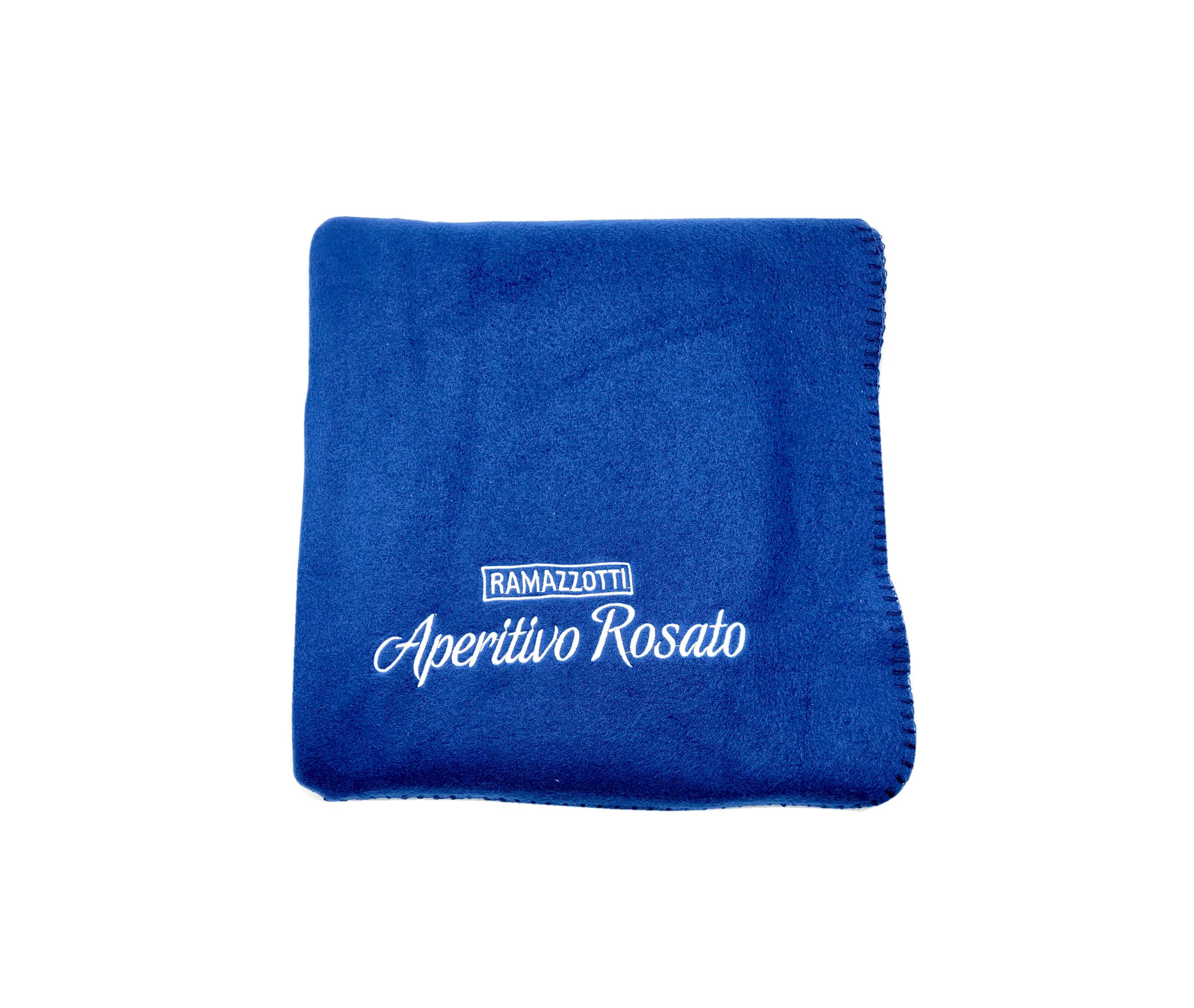 Ramazzotti Aperitivo Rosato Decke Kuscheldecke 100% Polyester - blau - ca. 150x120cm
