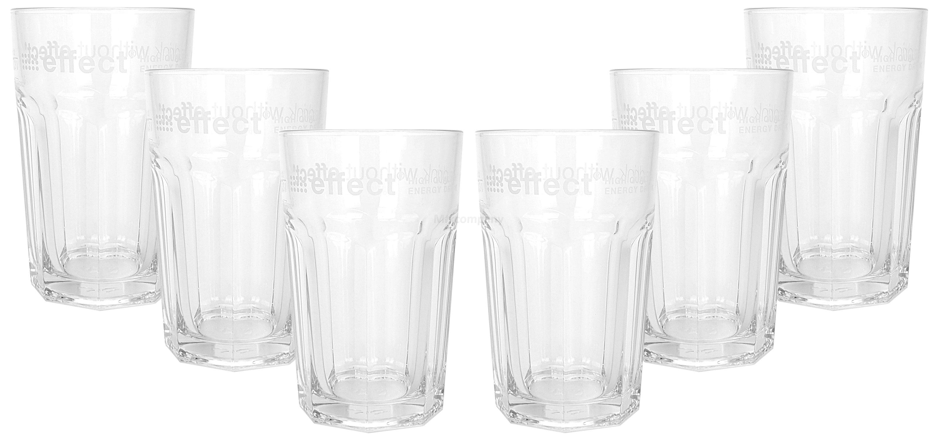 Effect Longdrinkglas Longdrink Glas Gläser Set - 6x Longdrinkgläser 0,3l geeicht