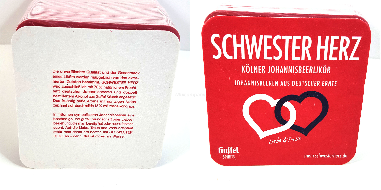 Gaffel Bierdeckel 120Stk. pro Packung - Schwester Herz Motiv