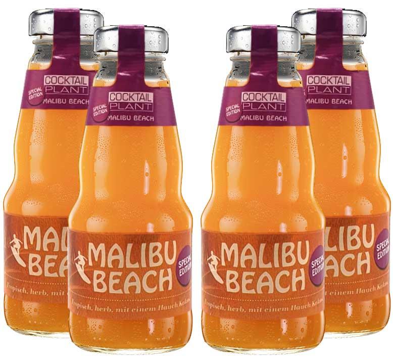 Cocktail Plant 4er Set Malibu Beach (10,1% Vol) special edition 4x0,2l - inkl. Pfand MEHRWEG - [Enthält Sulfite]