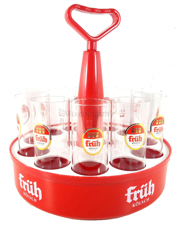 Früh Kölschkranz 11er + 11x Früh Biergläser 0,3 liter