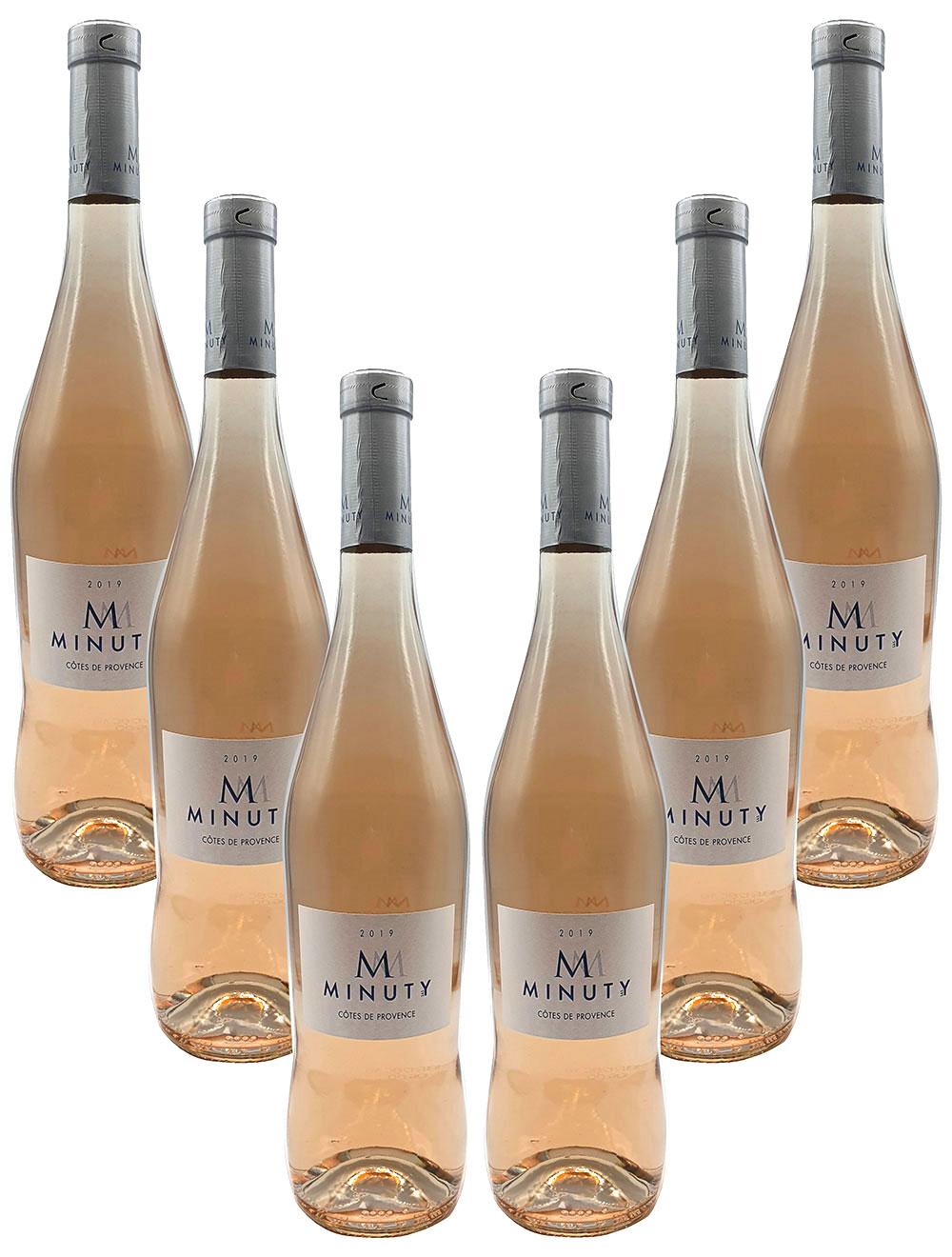 Rose Wein Set - 6x M Minuty Côtes de Provence Rosé 750ml (13% Vol)- [Enthält Sulfite]
