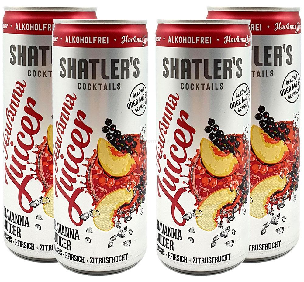 Shatlers Cocktail - 4er Set Shatlers Havanna Juicer 0,25L Alkoholfrei - inklusive Pfand EINWEG - Shatlers Cocktail - Ready to Go