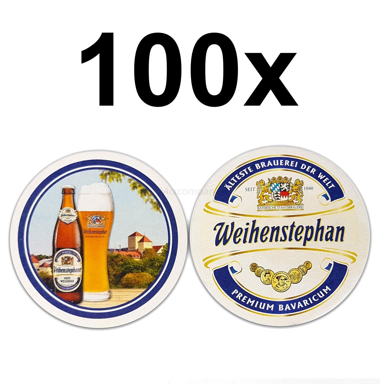 Weihenstephan Bierdeckel Untersetzer Bierfilz rund - 100er Packung
