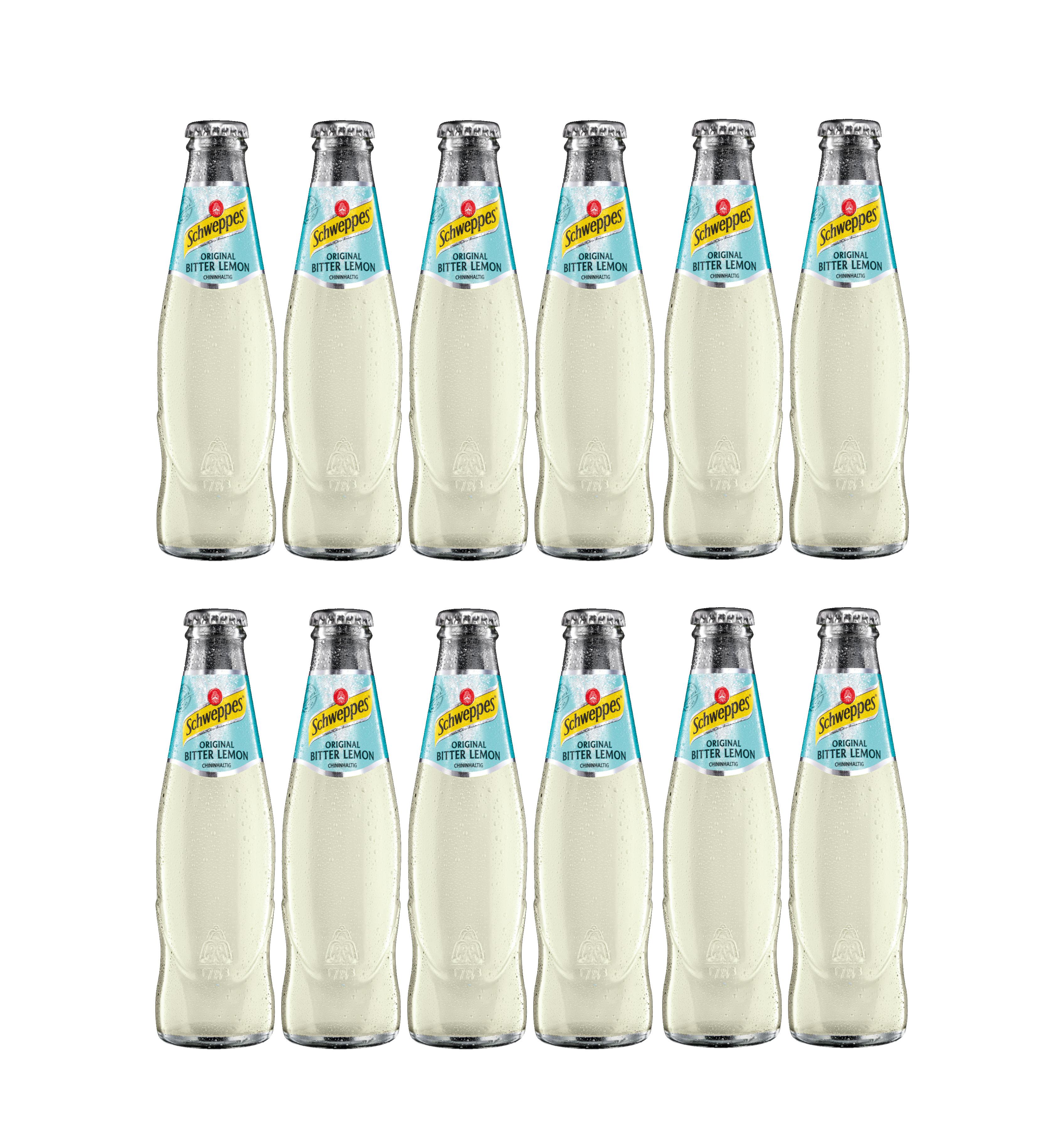 Schweppes 12er Set Bitter Lemon 12x 200ml - Inkl. Pfand MEHRWEG