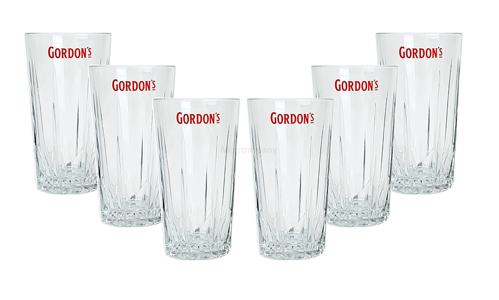 Gordon's Longdrinkglas - Gordons Longdrink Glas / Gläser Set - 6x Longdrinkgläser