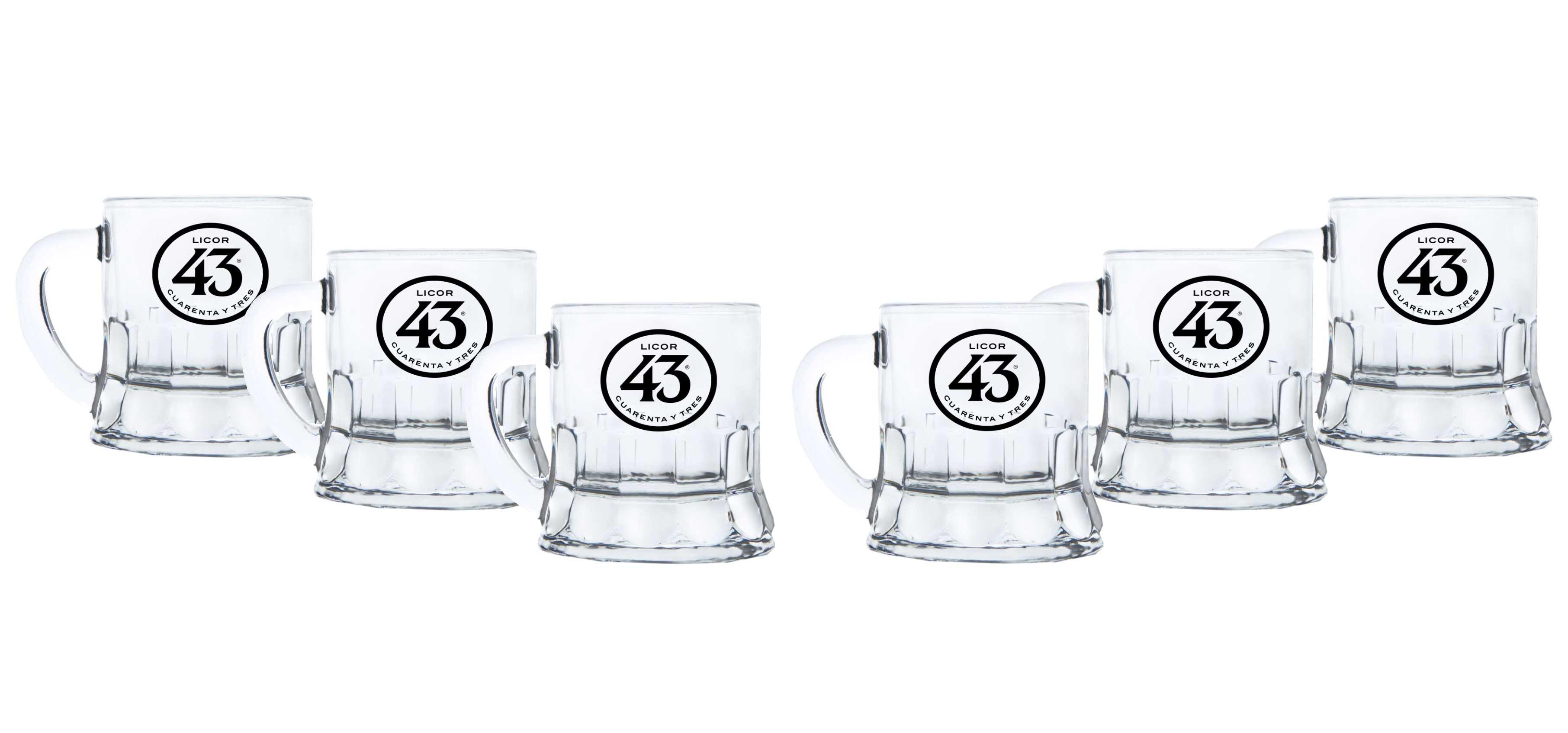 Licor 43 Minibeer Glas 6er Set Shotglas Pinnchen Likör Liquor 43er