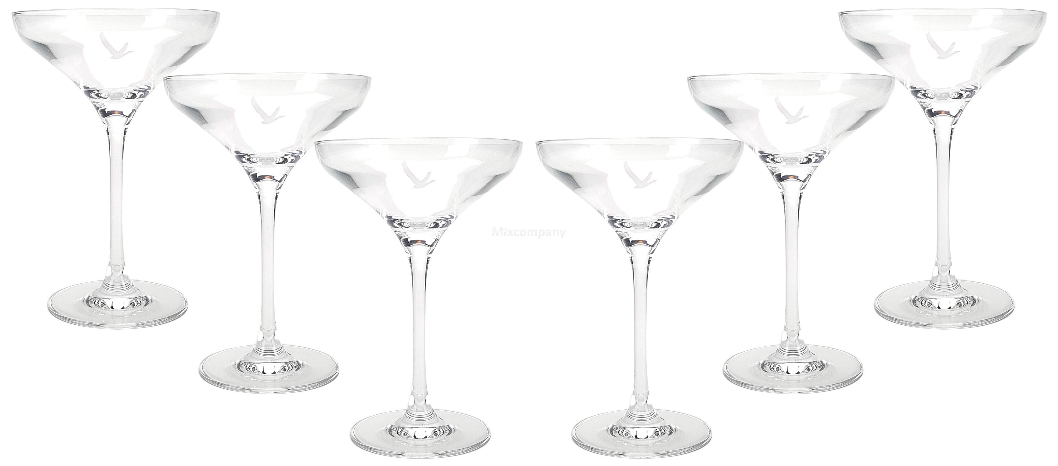 Grey Goose Vodka Martini Glas Gläser Set - 6x Margarita Gläser