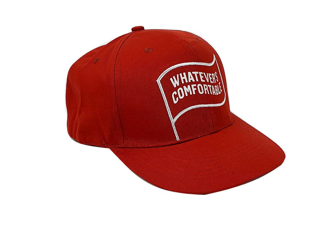 Southern Comfort Cap - Kappe / Baseball / Cap in Rot mit Logo + Verstellbar
