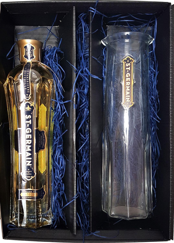 St Germain Geschenkset - St. Germain Elderflower / Holunderblüten Likör 0,7l 700ml (20% Vol) + Karaffe