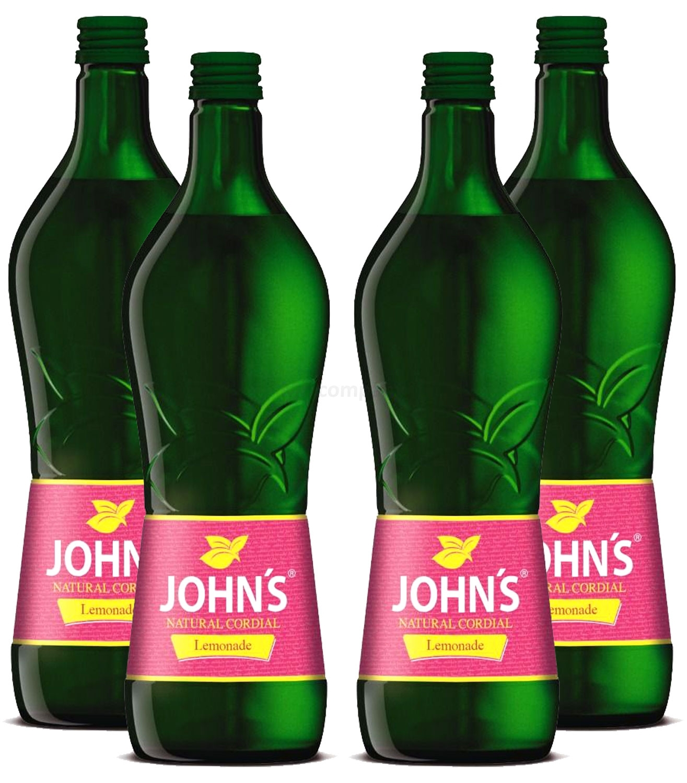 Johns Lemonade Sirup für Cocktails 4x 0,7l = 2,8 Liter