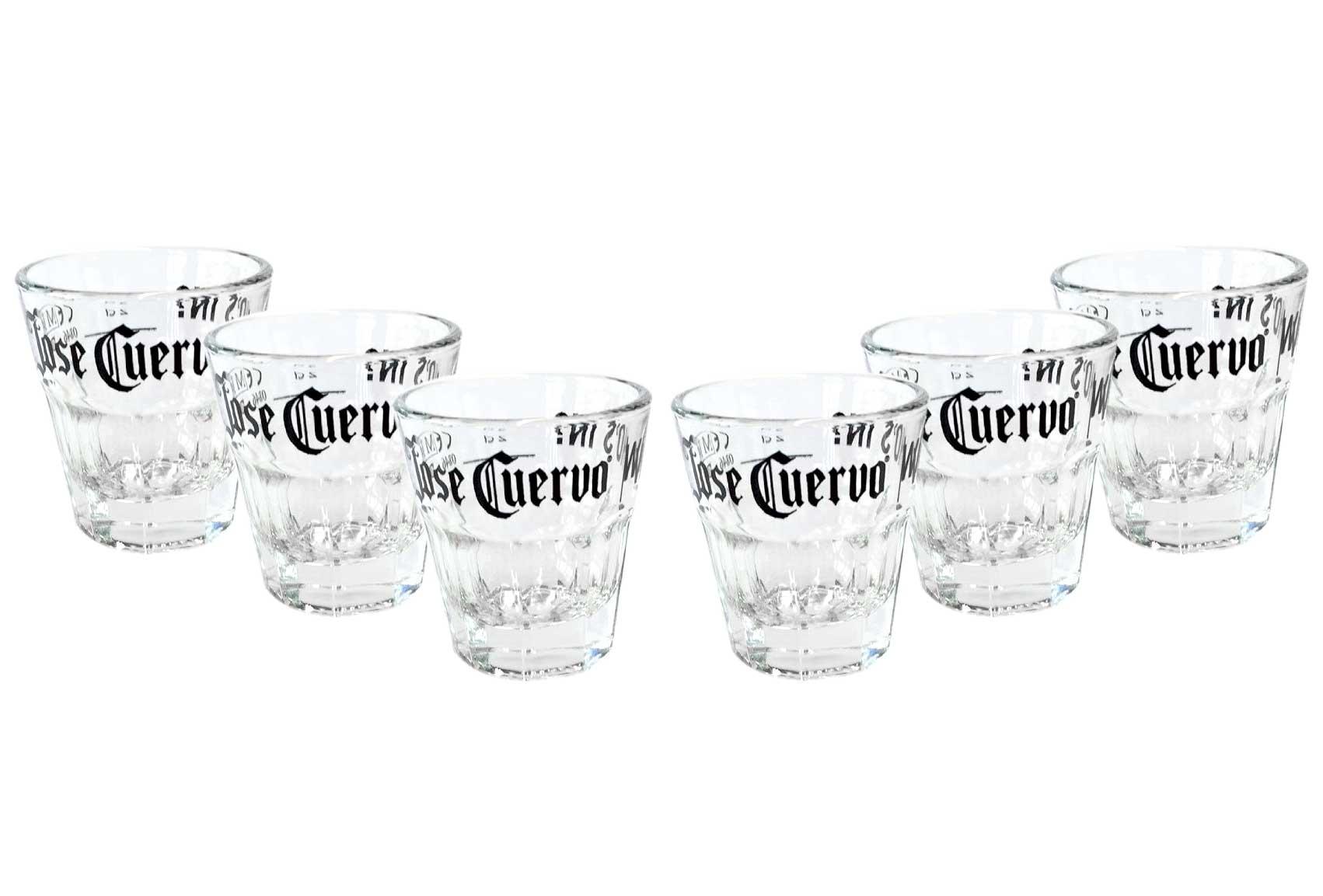 6 Jose Cuervo Tequila glas Shotgläser 2 cl Gläser