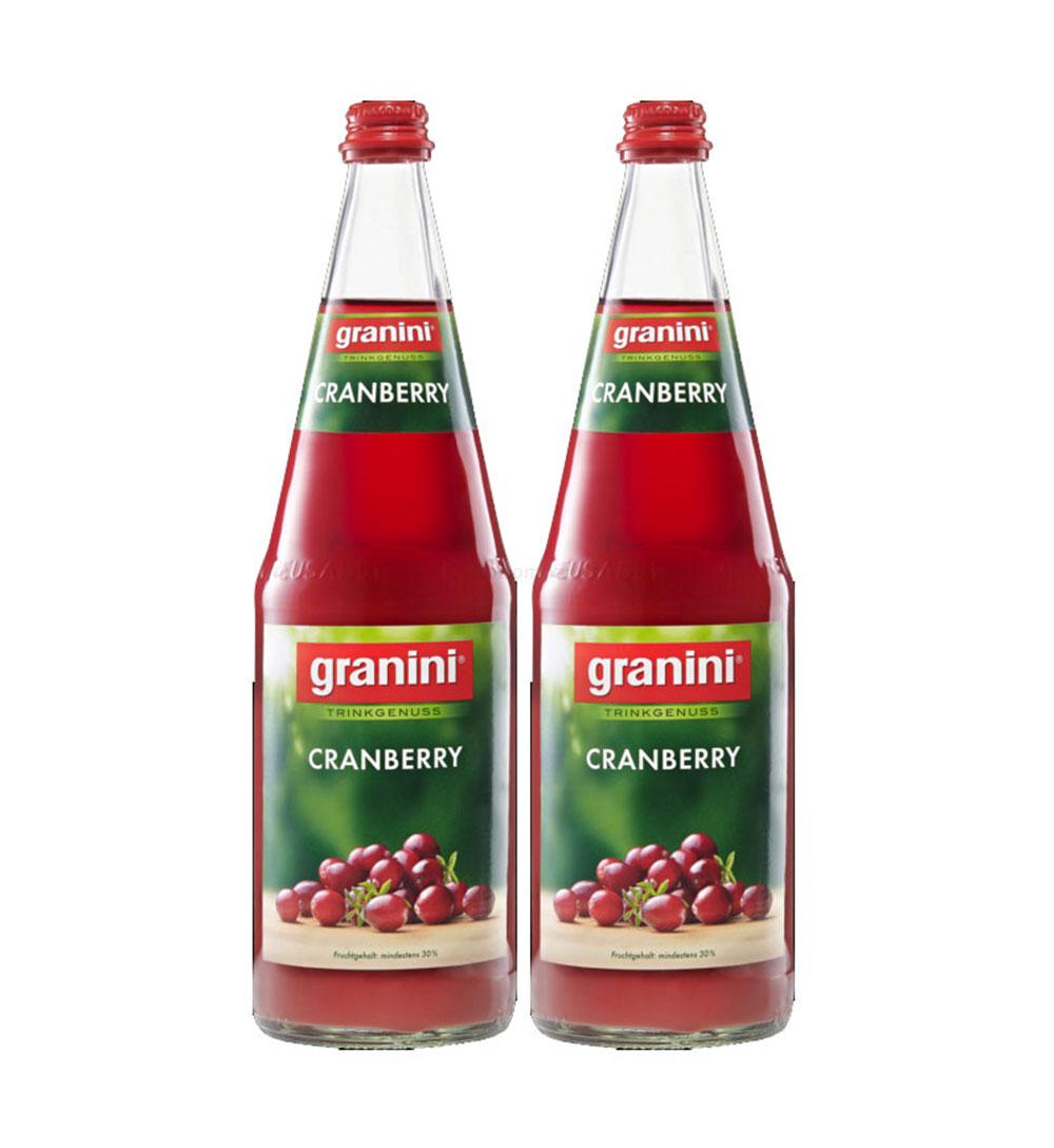 Granini Cranberry Saft - 2er Set Granini Trinkgenuss - 2x Cranberry 1L Saft inkl. Pfand MEHRWEG
