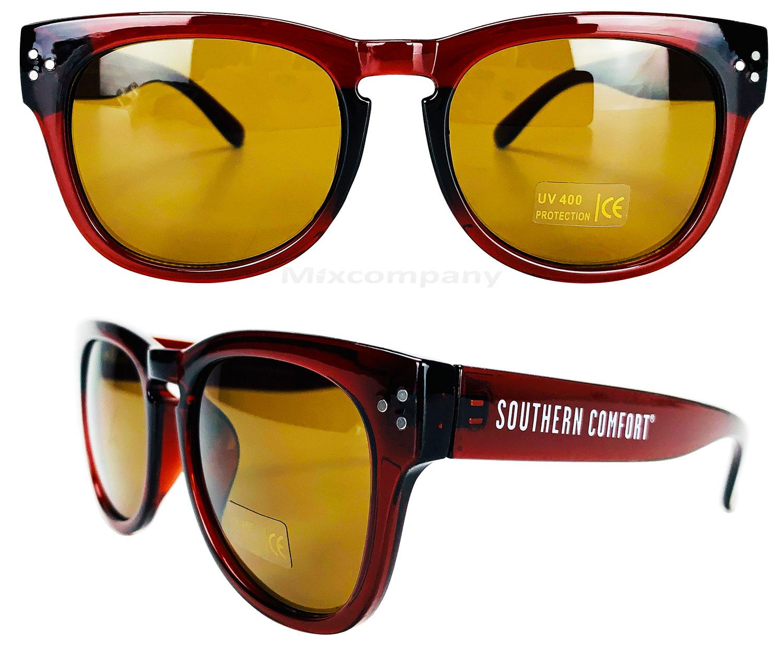 Southern Comfort Nerd Sonnenbrille braun UV400 Unisex Retro Vintage Style Party Festival Bar