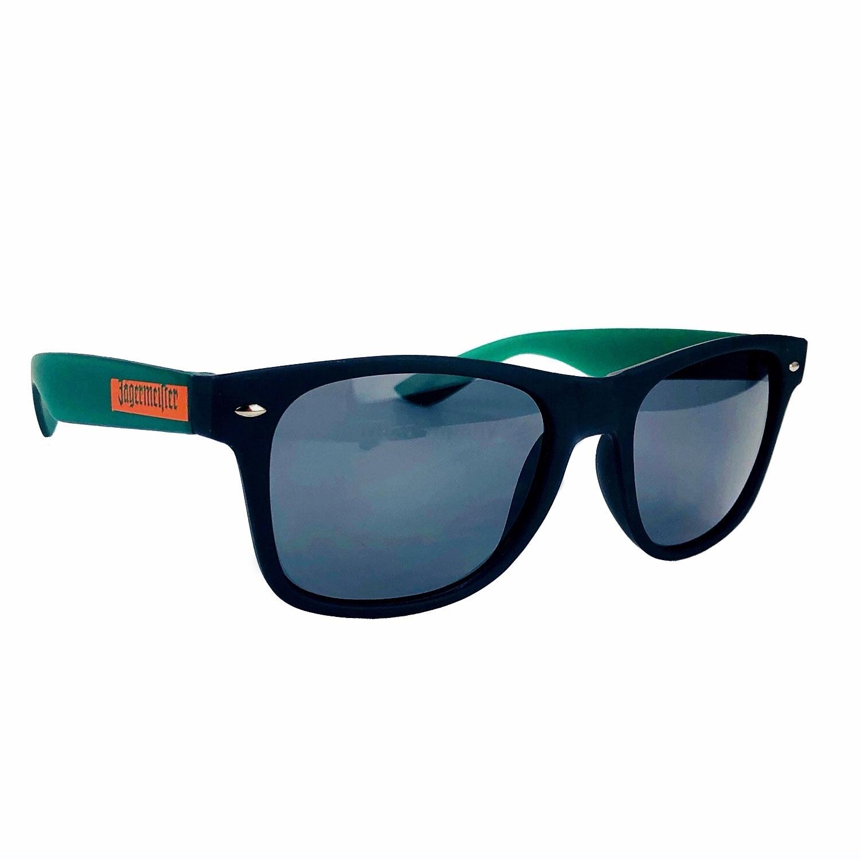 Jägermeister Sonnenbrille Nerd-, Party-, Brille in schwarz grün