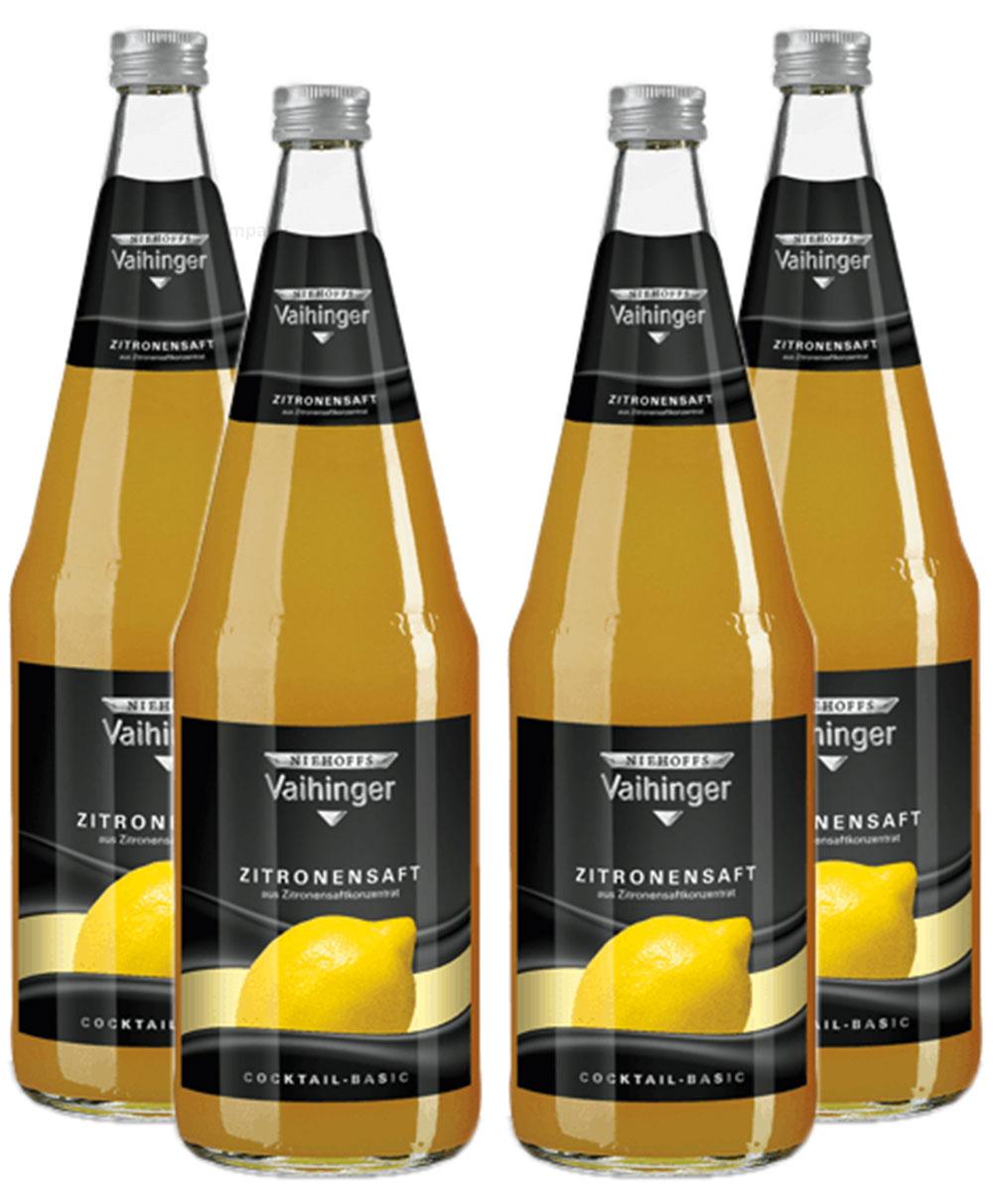 Niehoffs Vaihinger Zitronensaft 1L VDF - 4er Set inkl. Pfand MEHRWEG