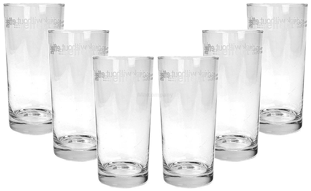 Effect Longdrink Glas / Gläser Set - 6x Gläser