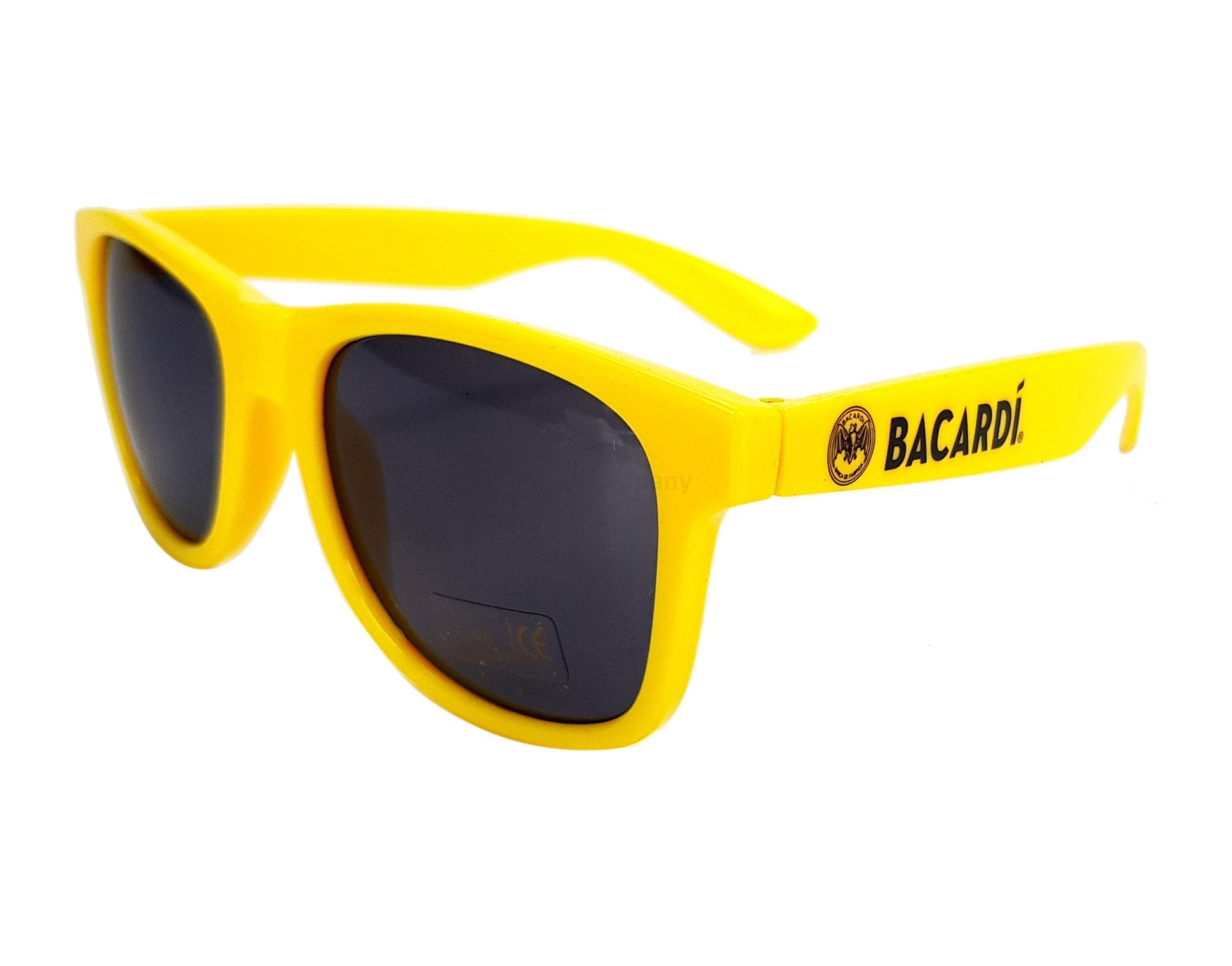 Bacardi Gelb Sonnenbrille Nerd Party Brille Gelb mit UV 400 Schutz