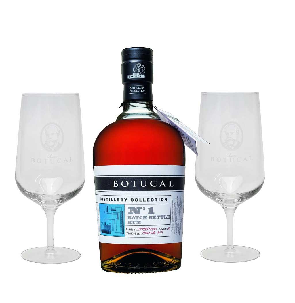 Botucal No1 Batch Kettle Rum Rhum 0,70l (47% Vol) exklusive Sonderausgabe special limited edition distillery collection + 2 Nosing Gläser tasting Glas Set- [Enthält Sulfite]