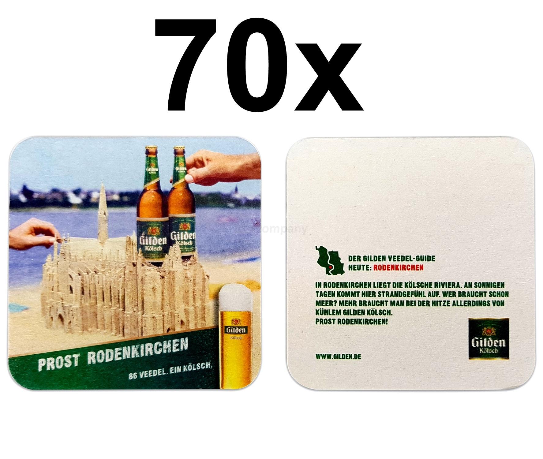 Gilden Kölsch Bierdeckel Untersetzer Bierfilz 70er Packung
