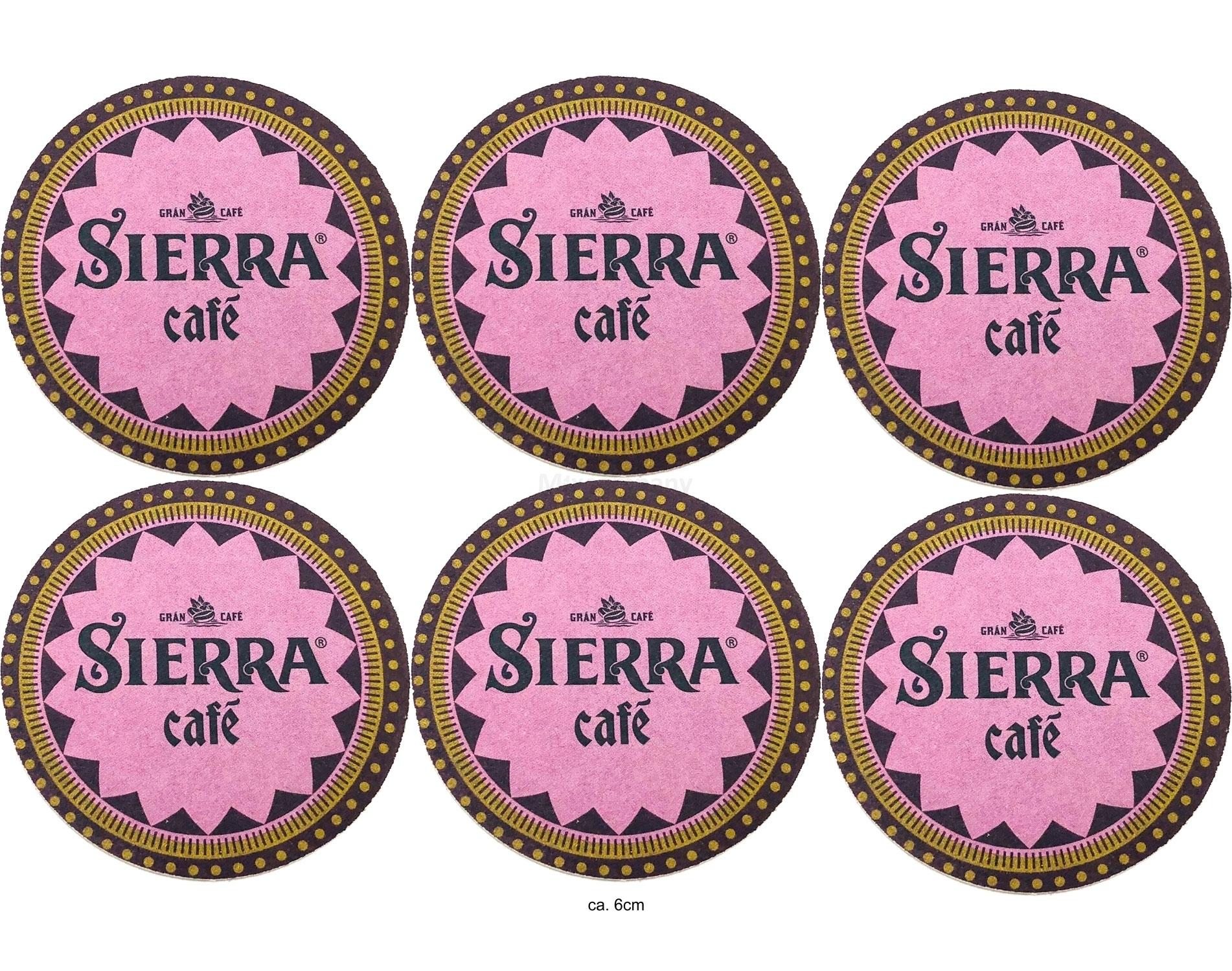 Sierra Cafe Untersetzer Pappuntersetzer Bierdeckel ca. 6cm - 6er set