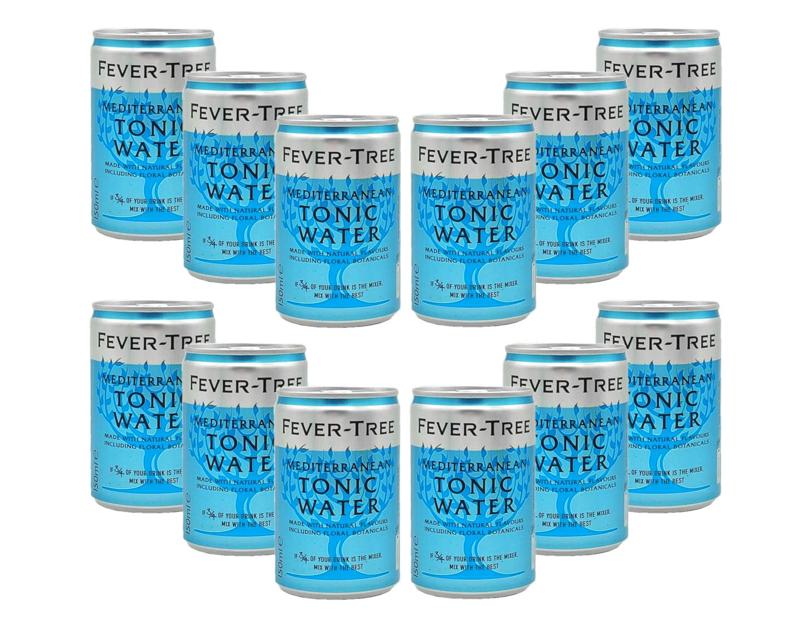 Fever Tree 12er Set Mediterranean Tonic Water 12x 150ml Dose inkl. Pfand EINWEG