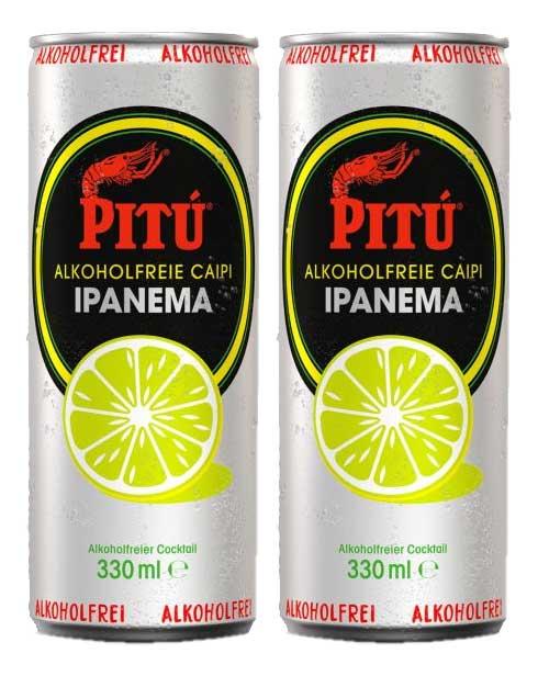 Pitu Ipanema 2er Set alkoholfreier fertig Cocktail 2x 0,33L ready to drink ohne Alkohol inklusive Pfand EINWEG