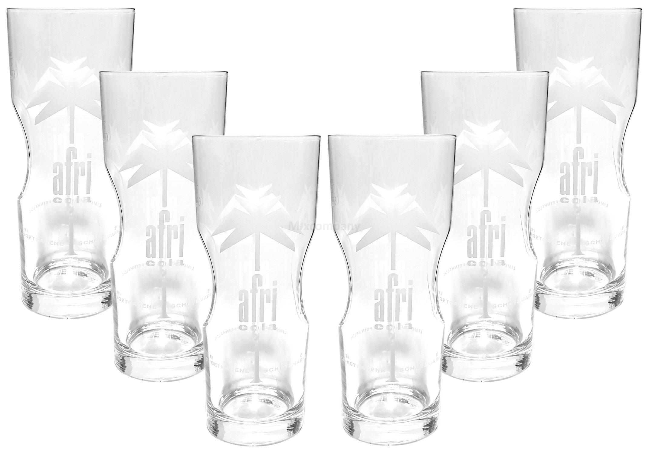 Afri Cola Contour Glas Gläser Set - 6x Gläser 400ml