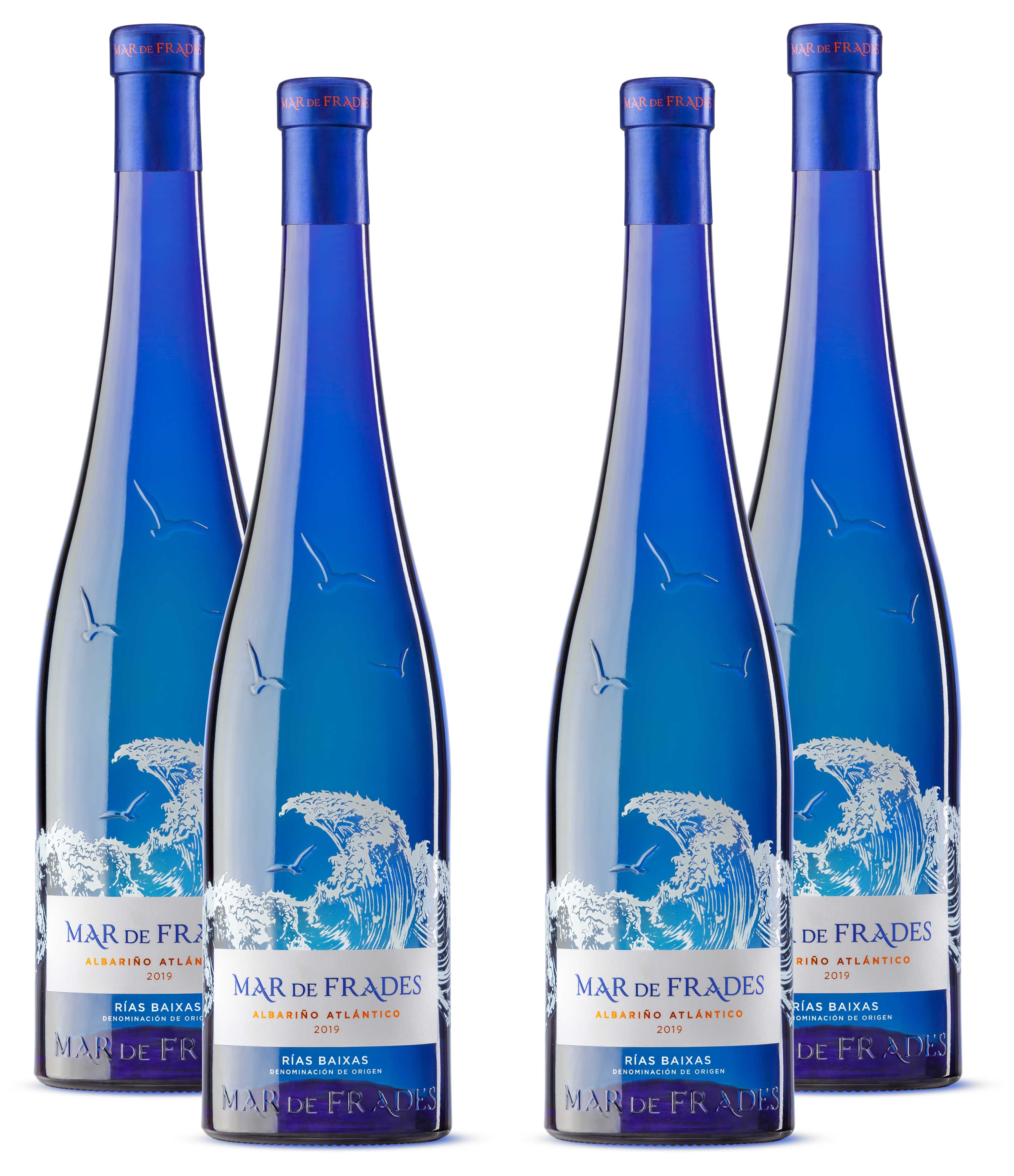 Mar de Frades 4er Set Albarino Atlantico 0,75L (12,5% Vol) 4x Weißwein Trocken Rebsorte: 100% Albarino- [Enthält Sulfite]