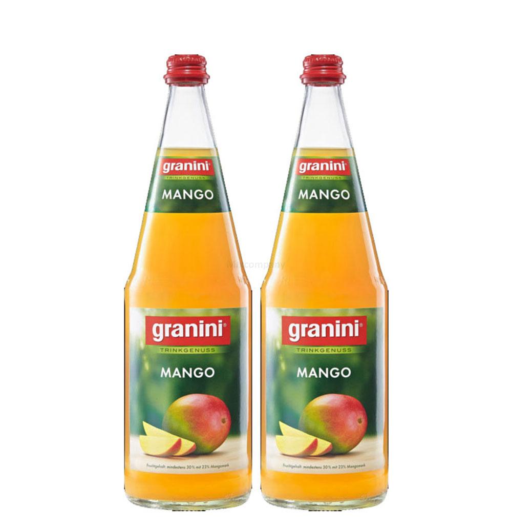 Granini Mango Saft - 2er Set Granini Trinkgenuss - 2x Mango 1L Saft inkl. Pfand MEHRWEG