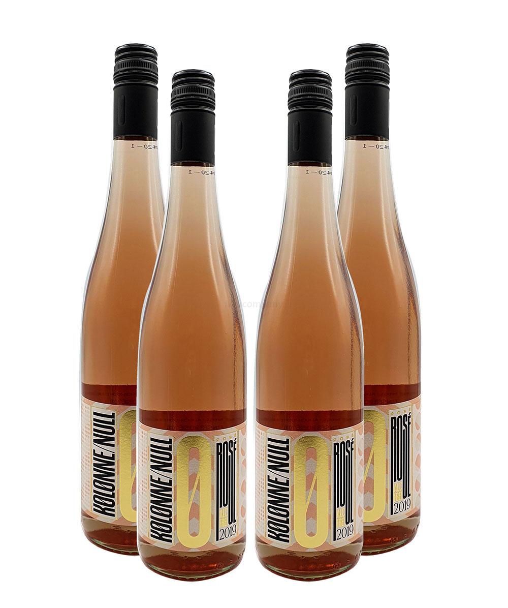 Kolonne Null - 0% Alkohol - 4x Rose - 4er Set Alkoholfreier Rose 0,75L- [Enthält Sulfite]