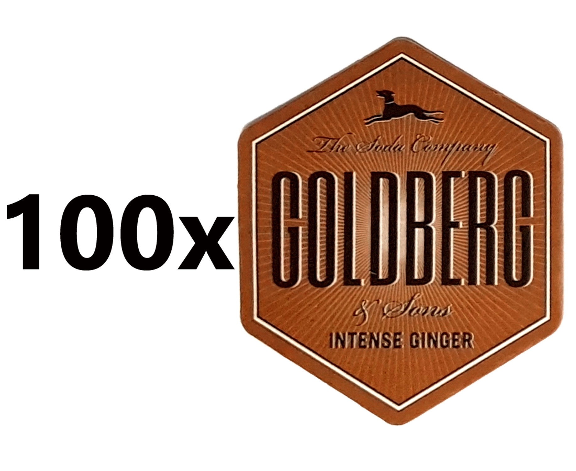 Goldberg Getränkeuntersetzer Bierdeckel Untersetzer Unterlage Pappdeckel Bierfilz - 100er Packung