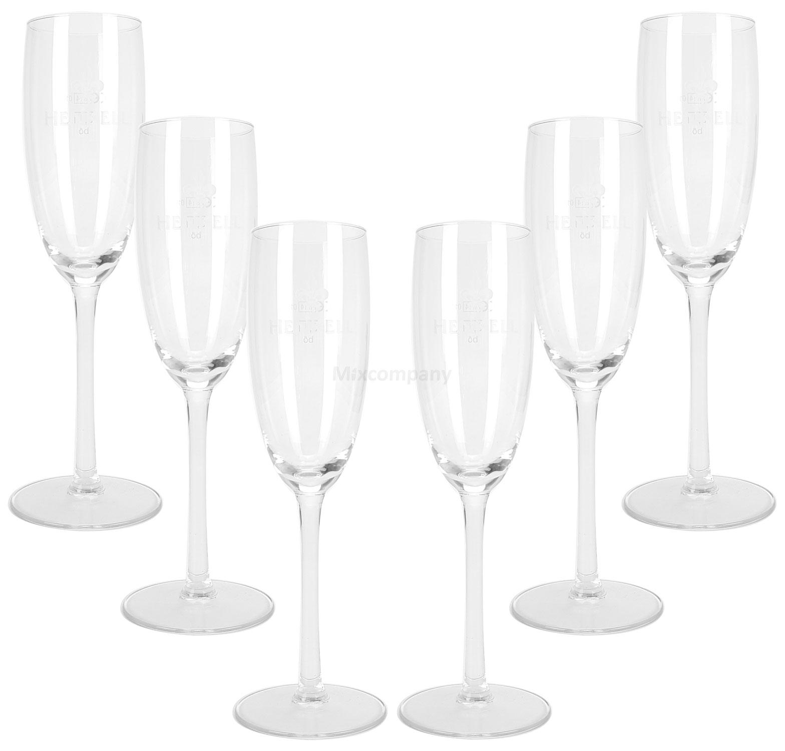 Henkell Champagner Gläser Flöten Set - 6x 10cl 0,1l geeicht