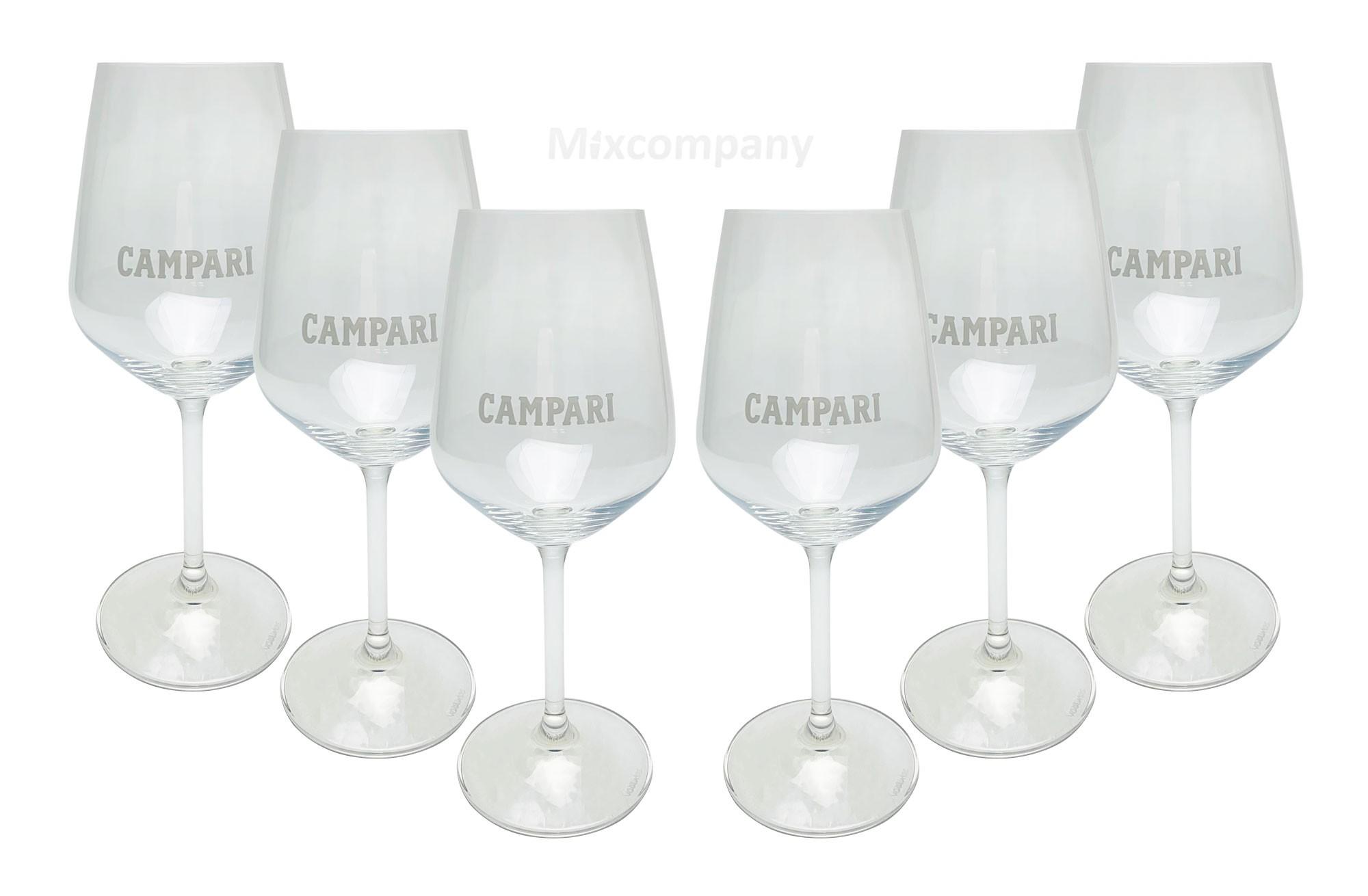 Campari Glas Gläser Set - 6x Weingläser