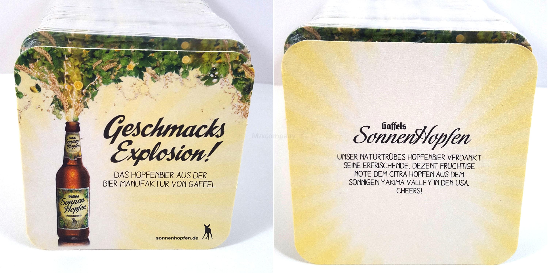 Sonnenhopfen Bierdeckel 120Stk. pro Packung