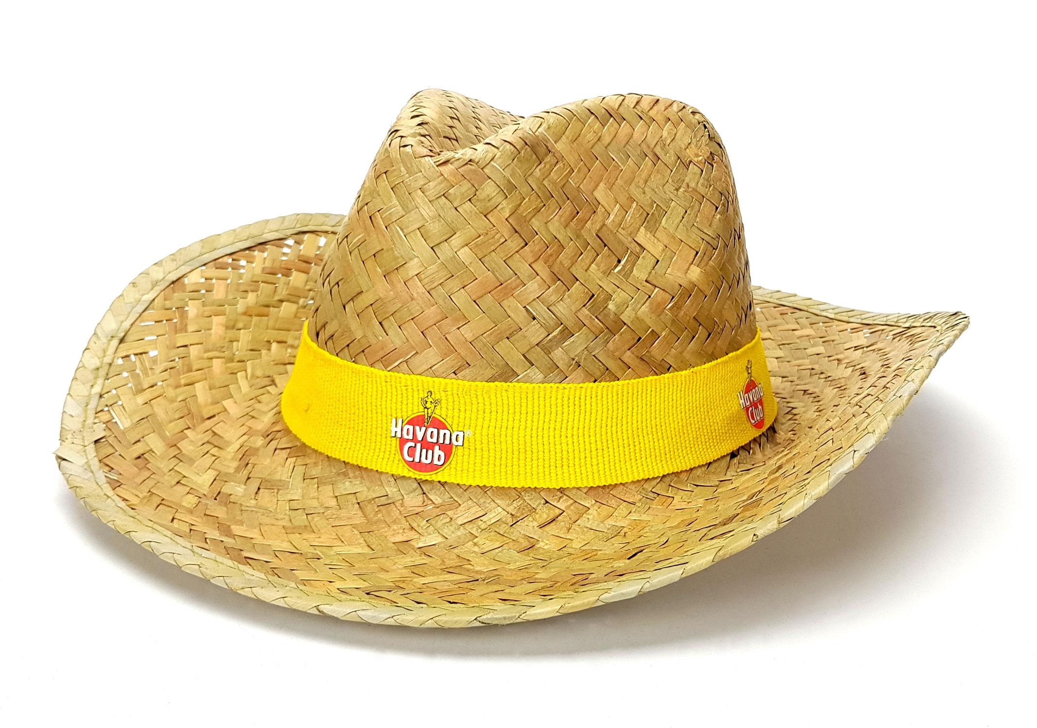 Havana Club Rum Strohhut Hut Farbe Gelb Partyhut Materila : 100% Stroh