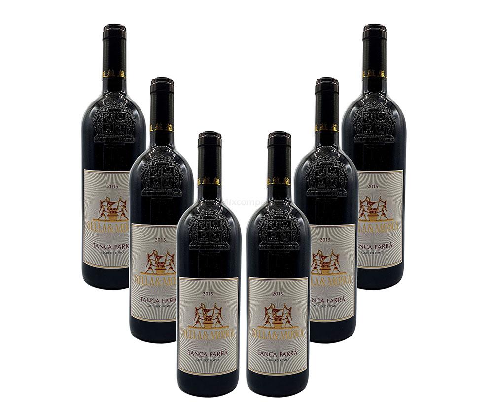 Sella und Mosca Rotwein - 6er Set - 6x 0,75L (13,5% Vol) - Tanca Farra Alghero Rosso / Rotwein - Italien - [Enthält Sulfite]